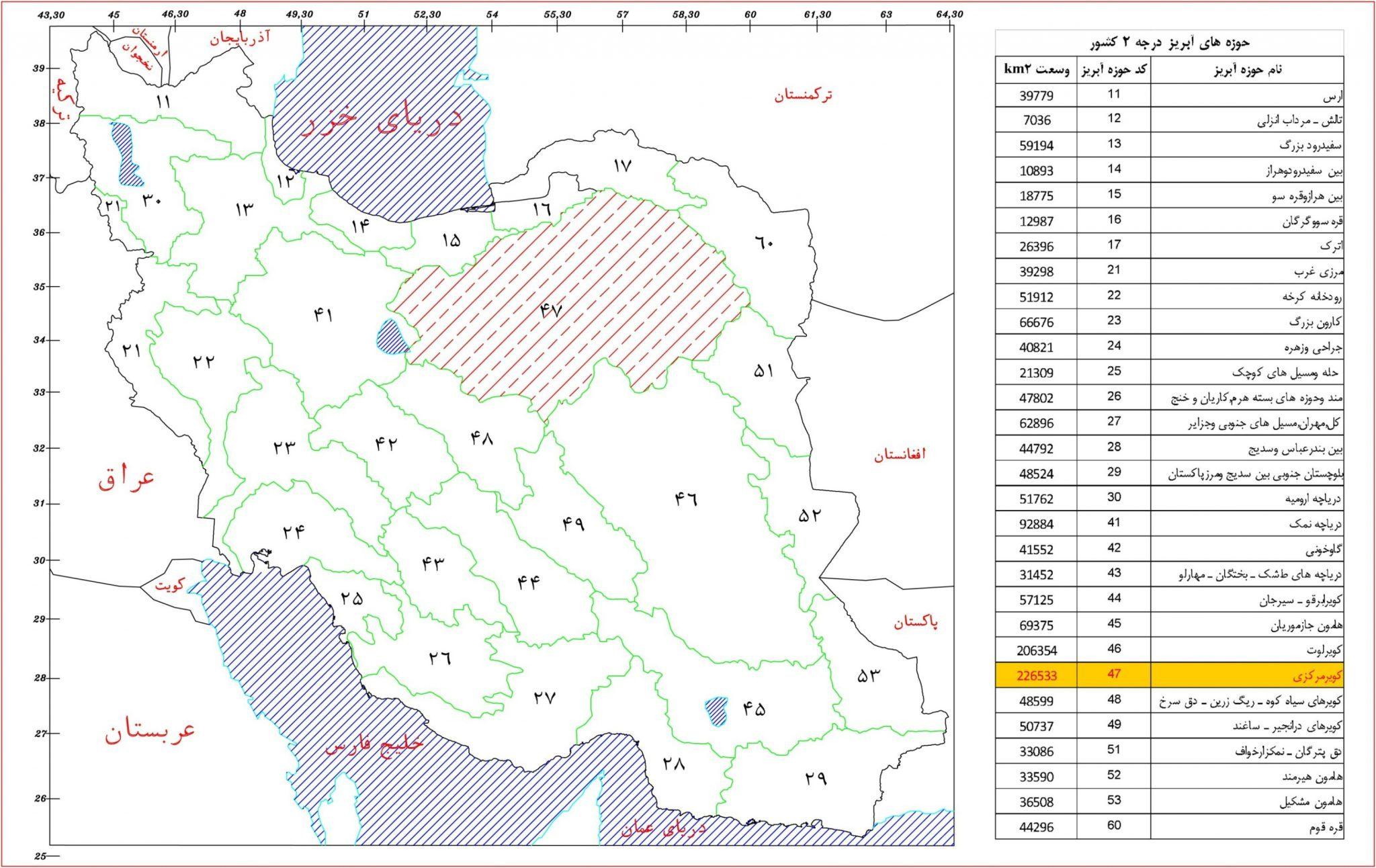 Updating of balance sheet in watershed of Dasht-E Kavir