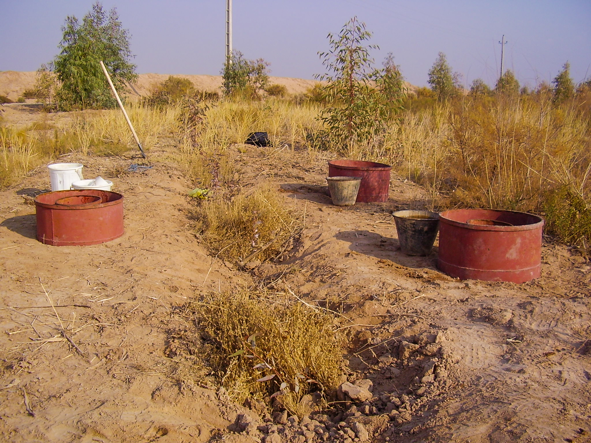 Detailed agrology, study of leaching and soil improvement, stratification, determination of flooding and permeability of southern Garmsar