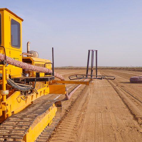 پروژه طرح و ساخت (EPC) شبکه فرعی آبیاری و زهکشی و تجهیز و نوسازی اراضی و زهکشهای زیرزمینی رامشیر- ساحل راست ناحیه