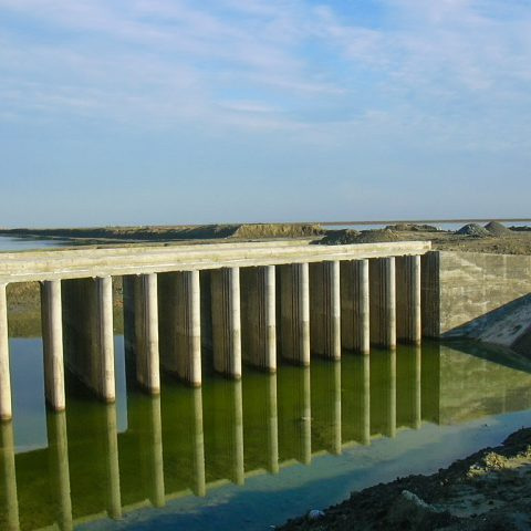 طراحي سازههای آبي و سيستم آبگيري از دريا و انتقال آب مجتمع پرورش ميگوي گميشان